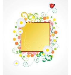 ladybird and daisy frame vector image