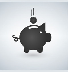 piggy bank with coin icon saving or accumulation vector image