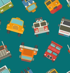 Seamless cars background and pattern vector image vector image