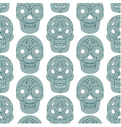 seamless pattern made of skulls vector image vector image