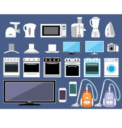 Set of household appliances vector image