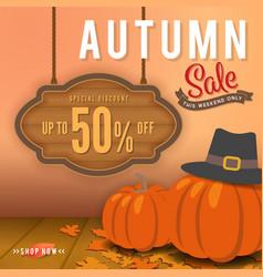 autumn sale sbanner background design vector image vector image