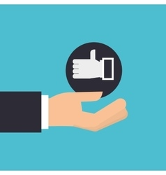 hand holding icon like hand design isolated vector image