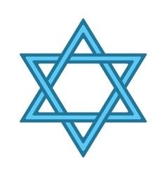 Jew star icon vector