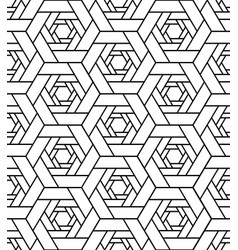 line polygon geometric seamless pattern vector image