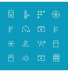 Refrigerator home fridge freezing icons vector