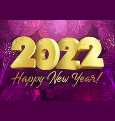2022 blue 3d new year card snowflakes bg vector