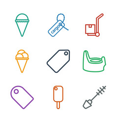 9 product icons vector