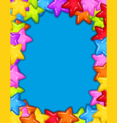 A colourful star frame vector