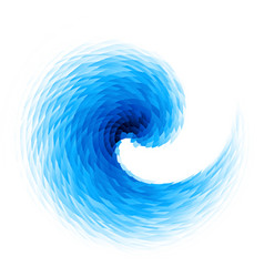 abstract blue swirl vector image