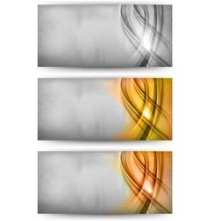 Abstract card silver gold bronze vector