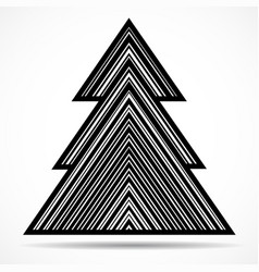 abstract christmas tree of lines vector image