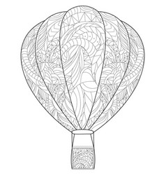 Adult antistress coloring balloon of vector