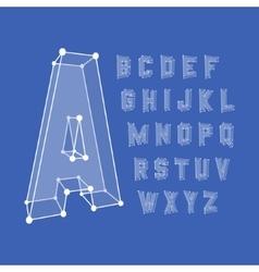 Alphabet set 3d Design vector