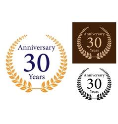 Anniversary laurel wreathes vector image