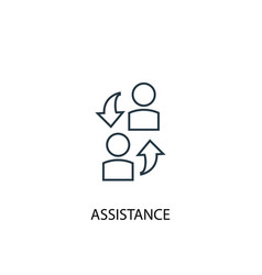 Assistance concept line icon simple element vector