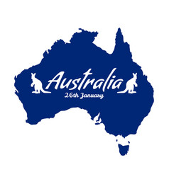 australia independence day card vector image