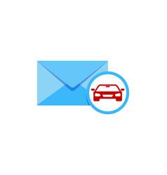Automotive mail logo icon design vector