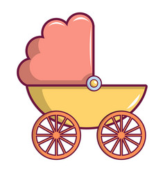 Baby carriage icon cartoon style vector