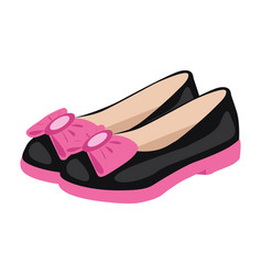 Bagirl shoes icon on a white background vector