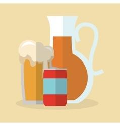 Beer and soda drink design vector