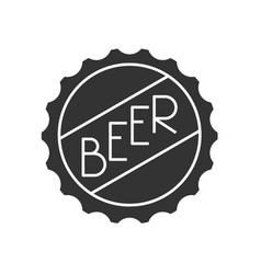 Beer cap icon vector