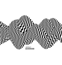 black and white design pattern with optical vector image