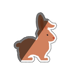 Bunny rabbit farm animal vector