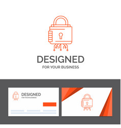Business logo template for security cyber lock vector