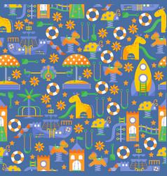 children playground seamless pattern vector image