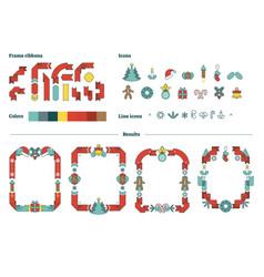 Christmas frames constructor vector