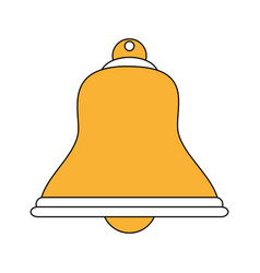 Color silhouette image bell icon design vector