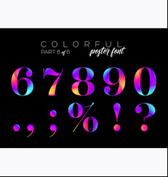 Colorful bright neon typeset electric pink vector