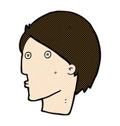 Comic cartoon surprised face vector