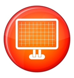 Computer monitor icon flat style vector