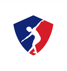 dance sports logo vector image