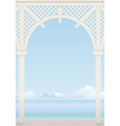 Delicate arch arbors vector