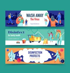 Disinfection banner design vector