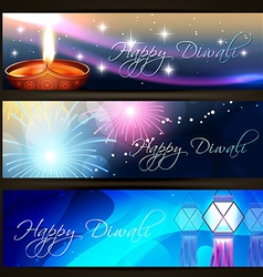 Diwali festival headers vector