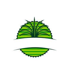 Emblem leaf template blank vector