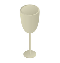 empty champagne glass icon isometric style vector image