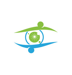 eye care health logo design template icon vector image