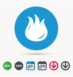fire icon blazing bonfire flame sign vector image
