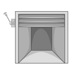 garage icon monochrome vector image