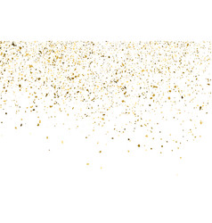 gold glitter texture isolated on white vector image