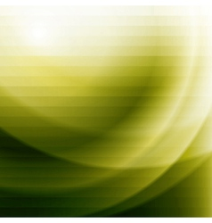 Green business background with stripes and waves vector