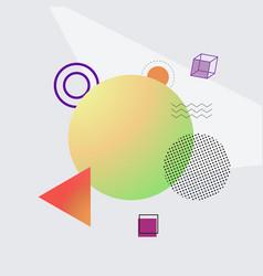 green circle and shapes on vector image