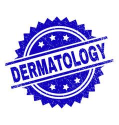 Grunge textured dermatology stamp seal vector