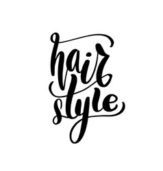 hair style lettering card typographic vector image