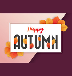 happy autumn background design vector image
